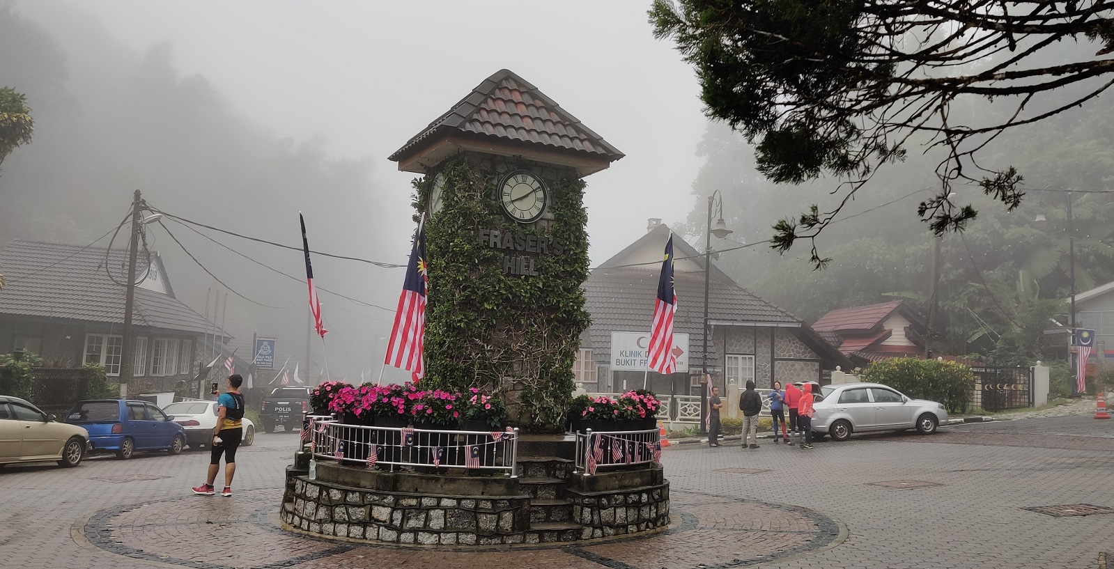 The iconic clocktower greets visitors to Fraser's Hill.