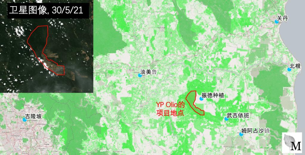 一个地图显示YP Olio位于彭亨州的发展项目地点。
