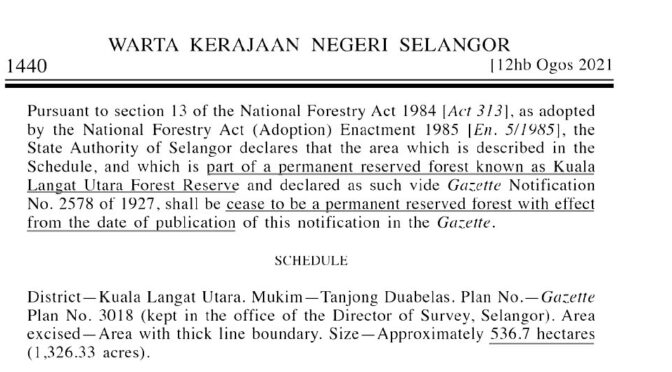 Empower the Dewan to Safeguard Forest Reserves